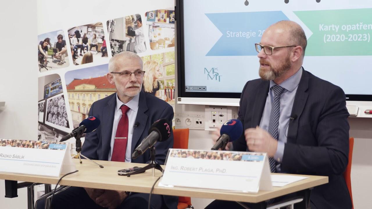 Tisková konference Strategie 2030+ - Ing. Radko Sáblík a Ph.D. Ing. Robert Plaga